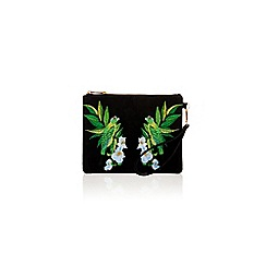 Oasis - Palm bird embroidered clutch
