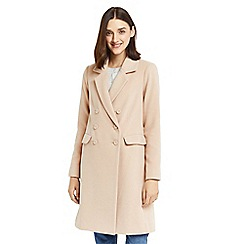 Oasis - Tan 'Clara' double breasted car coat