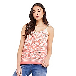 Oasis - Flamingo tie shoulder cami top