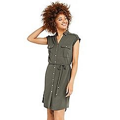 Oasis - Cupro sleeveless shirt dress