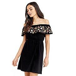 Oasis - Embroidered bardot dress