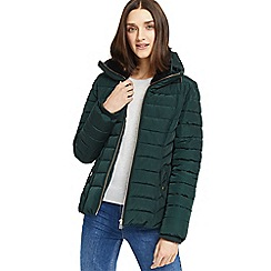 Oasis - Green 'Natalie' padded jacket