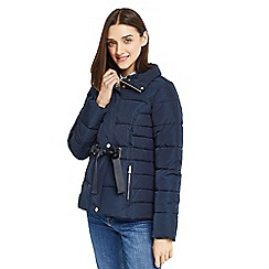 Oasis - Navy ribbon short padded jacket