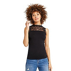 Oasis - Lace insert fitted tshirt