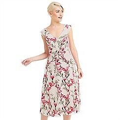 Oasis - Magnolia frill midi dress