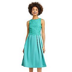 Oasis - Long lace bodice 2 in 1 midi dress