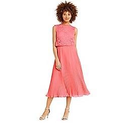 Oasis - Lace bodice pleat midi dress