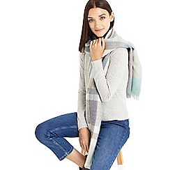 Oasis - Grey pastel check scarf