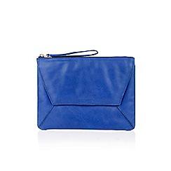Oasis - Leather dex clutch bag