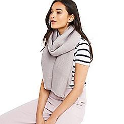 Oasis - Grey Paris crinkle scarf