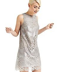 Oasis - Metallic lace shift dress