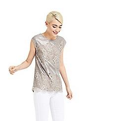 Oasis - Metallic lace t-shirt