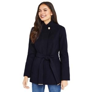 Oasis Leah funnel coat