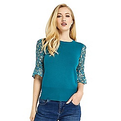Oasis - Shipwrecked lace sleeves knit