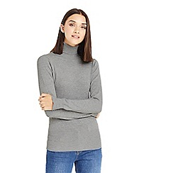 Oasis - Grey core polo neck jumper