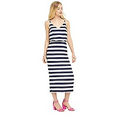 Oasis - Stripe tie back midi dress