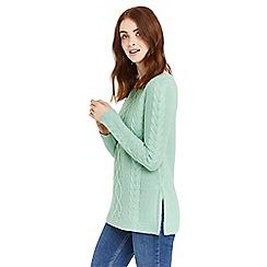 Oasis - Green side split knitted jumper