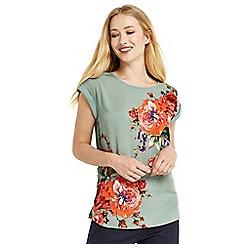 Oasis - Rose placement lace trim t-shirt