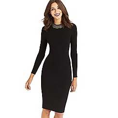 Oasis - Black embellished neck dress