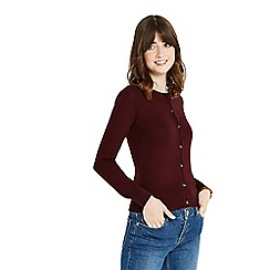 Oasis - Burgundy 'Angel' crew cardigan