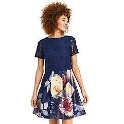 Oasis - Lace bodice skater dress