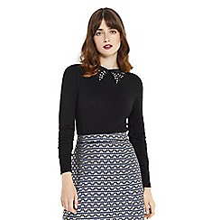 Oasis - Butterfly collar knit