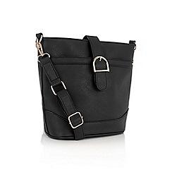Oasis - Black 'Bonnie' bucket bag