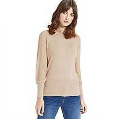 Oasis - Lace sheer sleeves knit