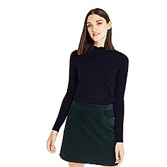 Oasis - Navy mini scallop turtle neck jumper