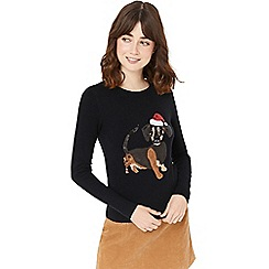 Oasis - Black dachshund xmas jumper