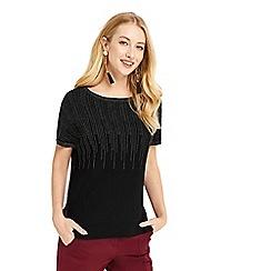 Oasis - Black ombre sparkle t-shirt