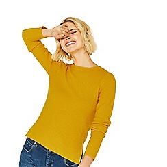 Oasis - Ochre rib side perfect crew sweater