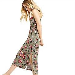 Oasis - Coral rose bandeau dress