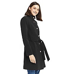 Oasis - Black 'Lucille' funnel neck coat