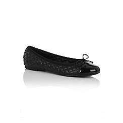 Oasis - Black quilted ballerina flat shoes