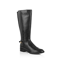 Oasis - Black leather riding boots