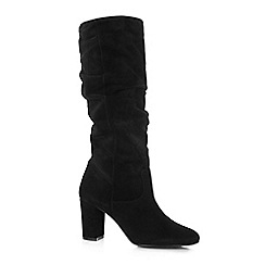 Oasis - Black 'skye' slouch suede boots