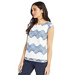 Oasis - Stripe lace tshirt