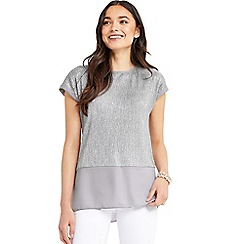 Oasis - Crinkle double layer tshirt