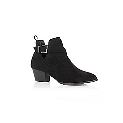 Oasis - Black cut out ankle boots