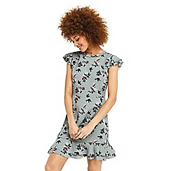 Oasis - Bird bouquet ruffle tea dress