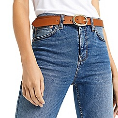 Oasis - Leather oval buckle belt