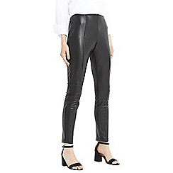 Oasis - Black faux leather stretch leggings