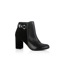 Oasis - Black 'Flo' high ankle boots