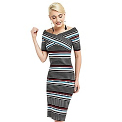 Oasis - Stripe wrap dress