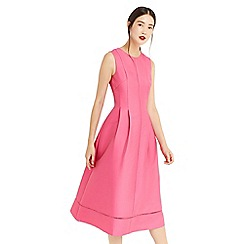 Oasis - Bright pink satin twill midi dress
