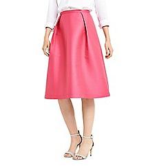 Oasis - Pink satin twill midi skirt