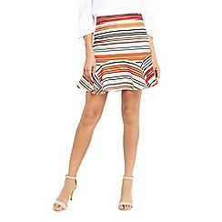 Oasis - Stripe flippy skirt