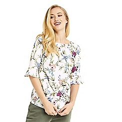 Oasis - Floral flute sleeves top