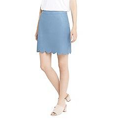 Oasis - Faux leather scallop mini skirt